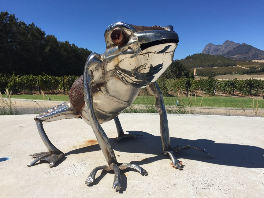 Red and White Wines with Frog's 'Legs'